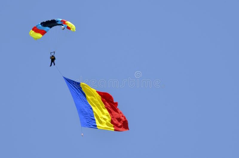 Romanian parachute jumper royalty free stock image