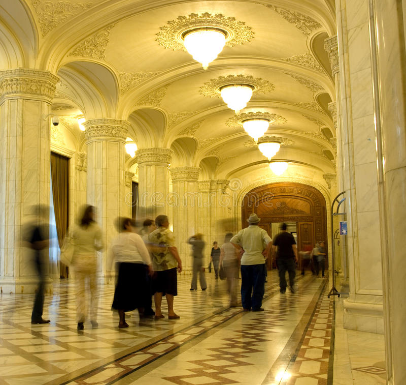 Romanian Parliament stock photography