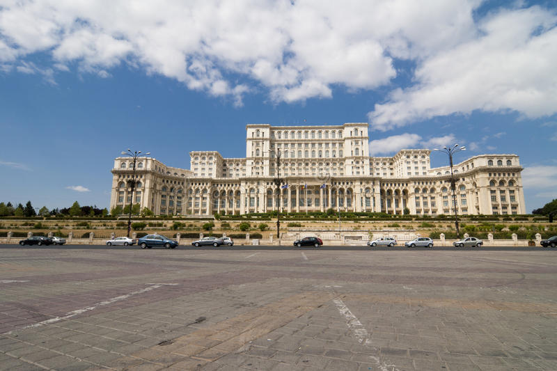 Romanian Parliament - Bucharest royalty free stock images