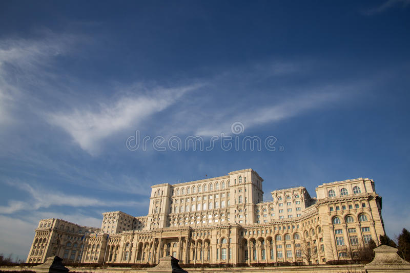 Romanian Parliament (Casa Poporului). Romanian Parliament from Bucharest, Romania, called House of the People (Casa Poporului stock photography
