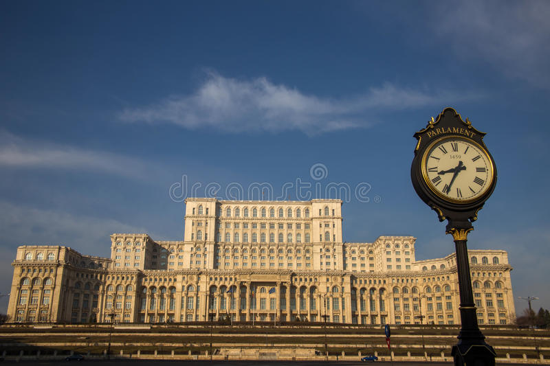 Romanian Parliament (Casa Poporului), Bucharest. Romanian Parliament from Bucharest, Romania, called House of the People (Casa Poporului royalty free stock image