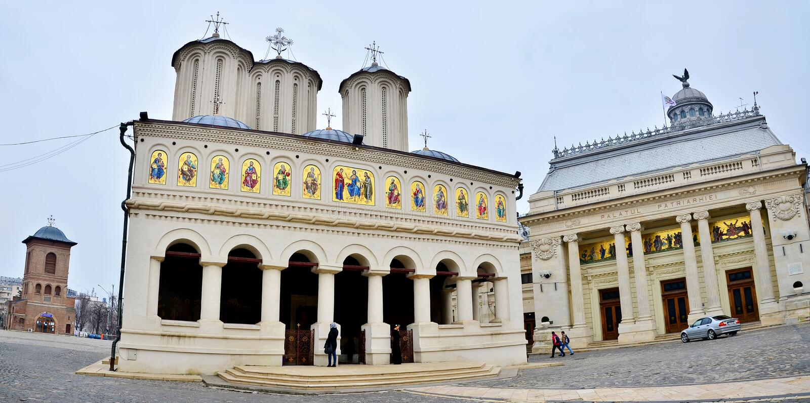 Romanian Patriarchal Cathedral stock photography