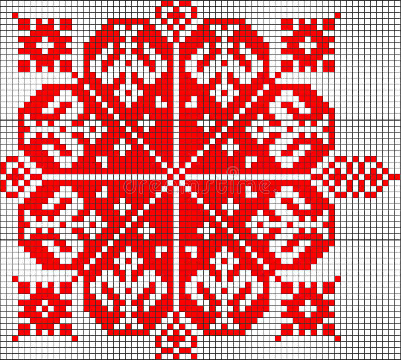 Romanian popular pattern. Very big size romanian popular motifs pattern stock illustration