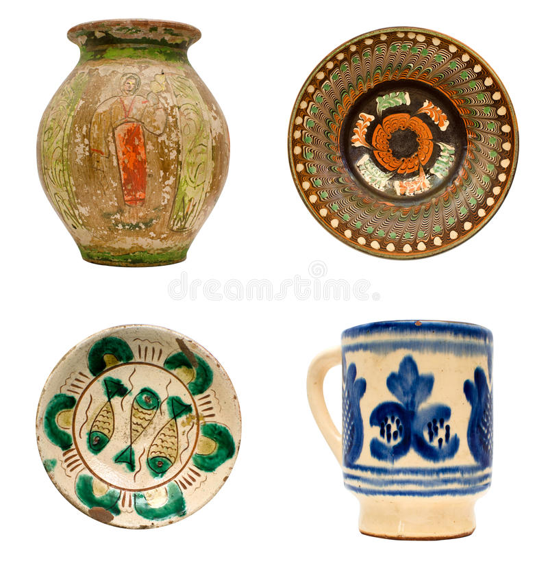 Romanian Pottery stock photo