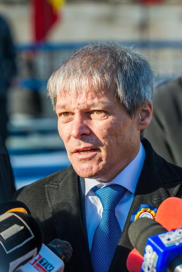 Romanian Prime Minister Dacian Ciolos stock images