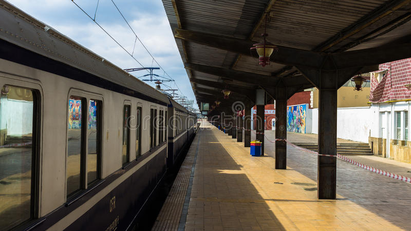 Romanian Royal Train. Open Air Museum. The train will be stationed and can be visited until Sunday, April 13 at Bucharest North Station (Gara de Nord). Was stock photography