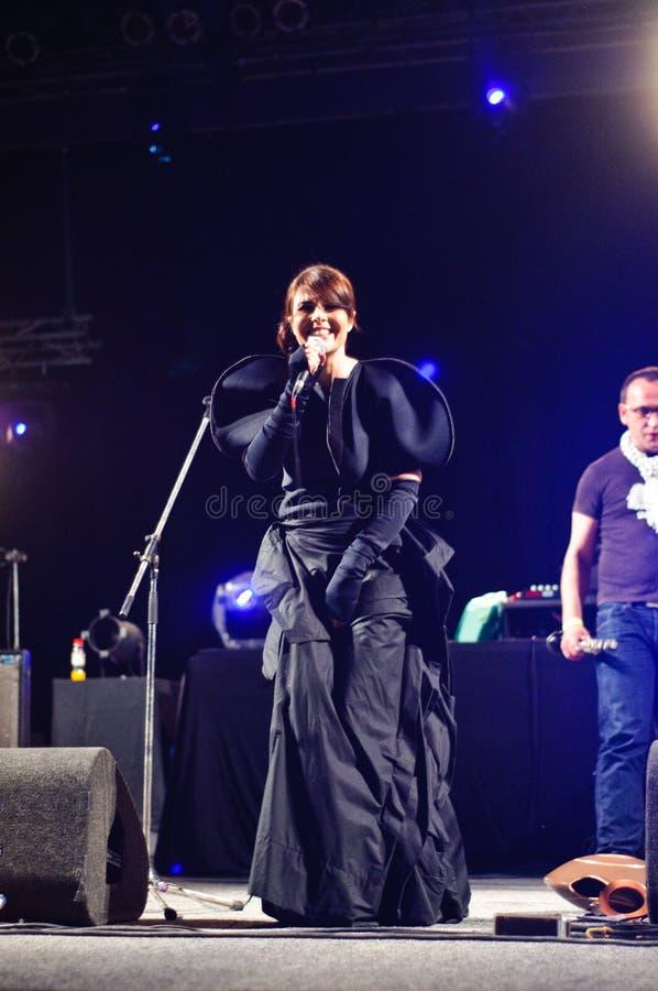 Romanian singer Mara and Zum on stage