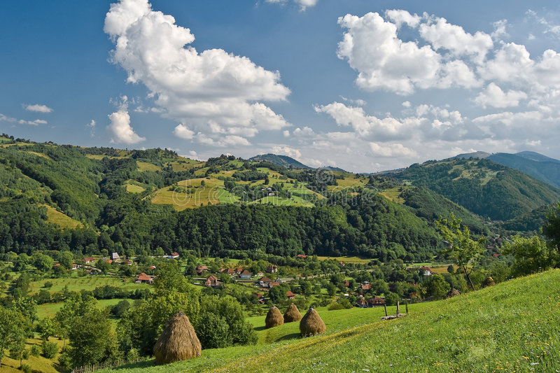 Romanian spring landscape royalty free stock photo