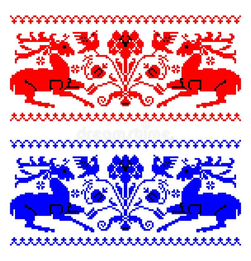 Romanian traditional carpet theme - cdr format royalty free illustration