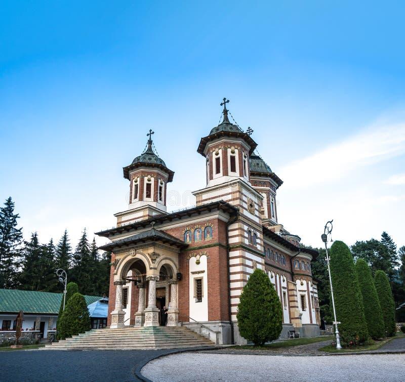 Romanian traditional Christian church in Sinaia Romania. stock photo