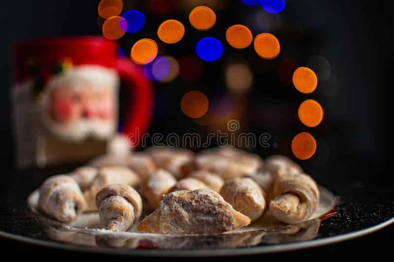 Romanian traditional Christmas dessert royalty free stock photo