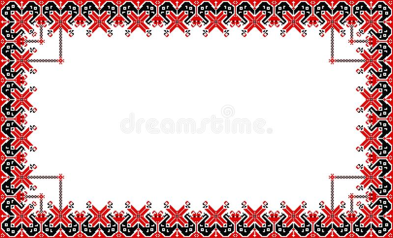 Romanian traditional frame - cdr format royalty free illustration