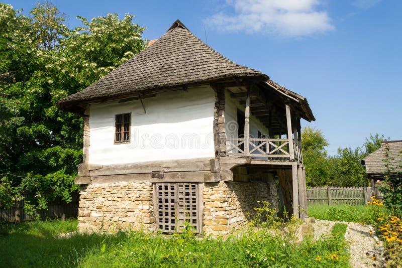 Romanian traditional house stock photo