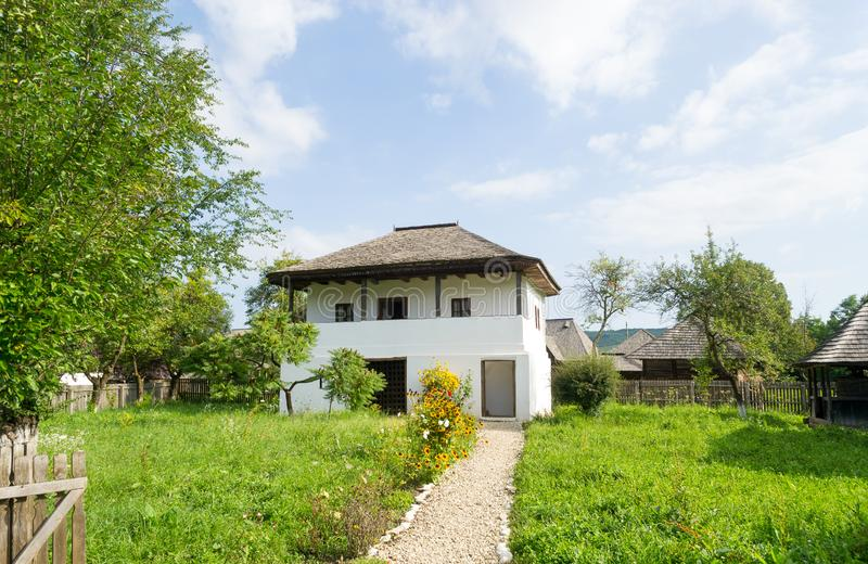 Romanian traditional house, Oltenia historical province stock photos