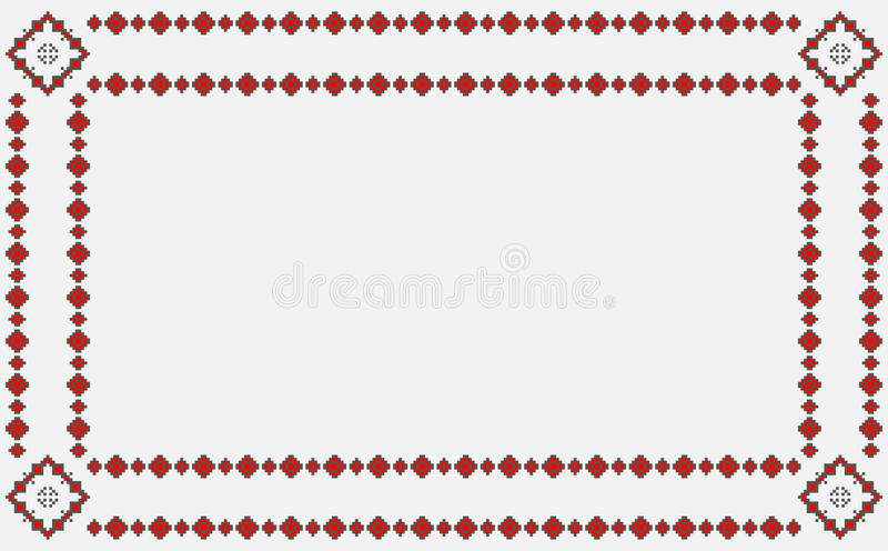 Romanian traditional patterns vector illustration