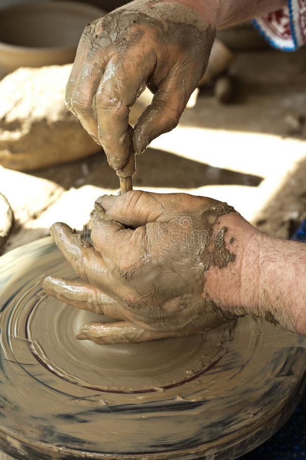 Download Romanian Traditional Pottery Making Stock Image - Image: 24582871