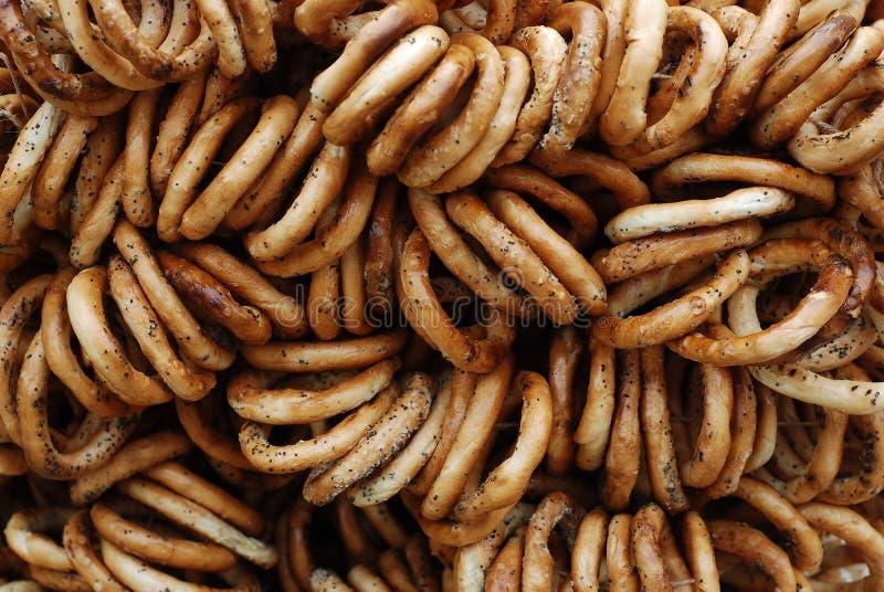 Romanian traditional pretzels stock photo