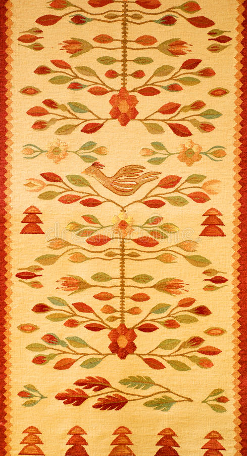 Romanian traditional rug royalty free stock photo