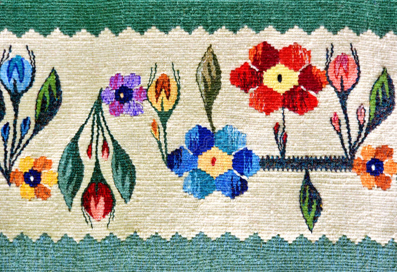 Romanian traditional rug royalty free stock images