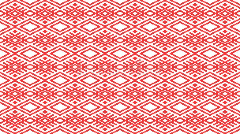 Romanian traditional seamless pattern - cdr format stock illustration