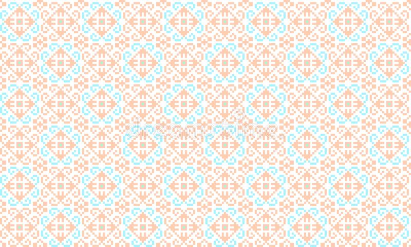 Romanian traditional seamless pattern - cdr format royalty free illustration