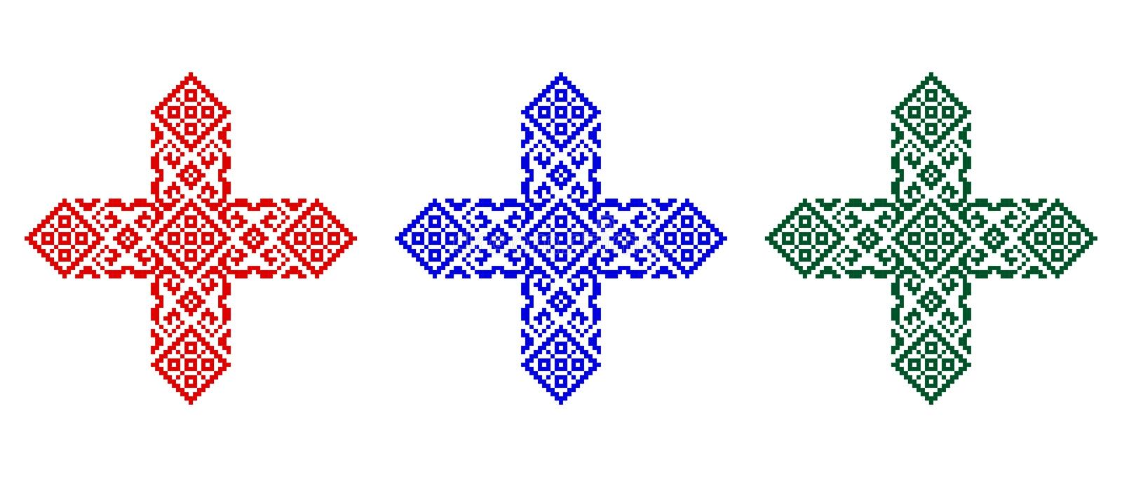 Romanian traditional stitches - cdr format stock photography