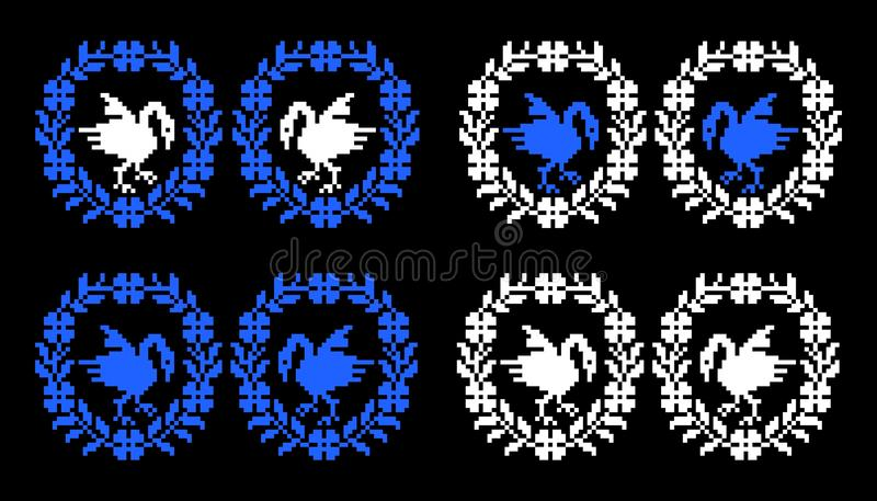 Romanian traditional theme - cdr format vector illustration