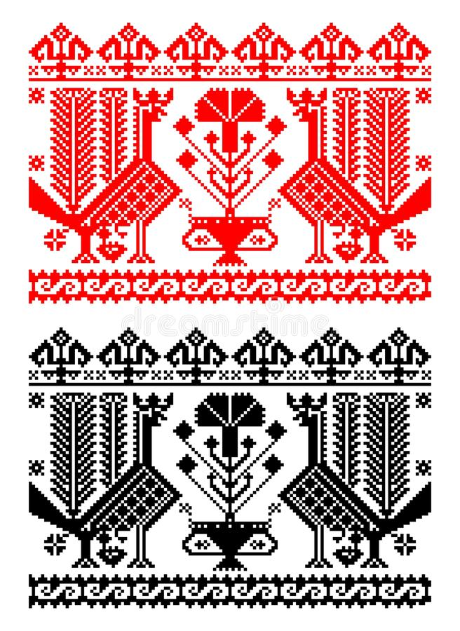 Romanian traditional theme - cdr format royalty free illustration