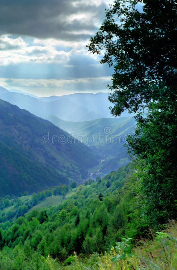 Romanian Valley Carpathian Mountains royalty free stock photography