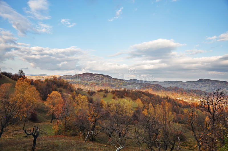 Download Romanian village in autumn stock image. Image of green - 27607857