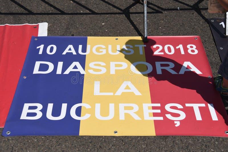 Romanians od zagranica protesta przeciw rzędowi zdjęcia stock
