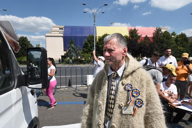 Romanians od zagranica protesta przeciw rzędowi zdjęcie stock