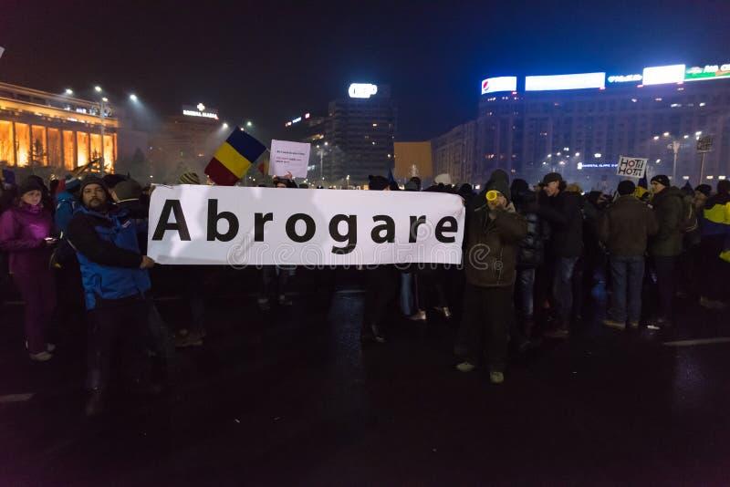 Romanians protest przeciw rzędowi obrazy royalty free