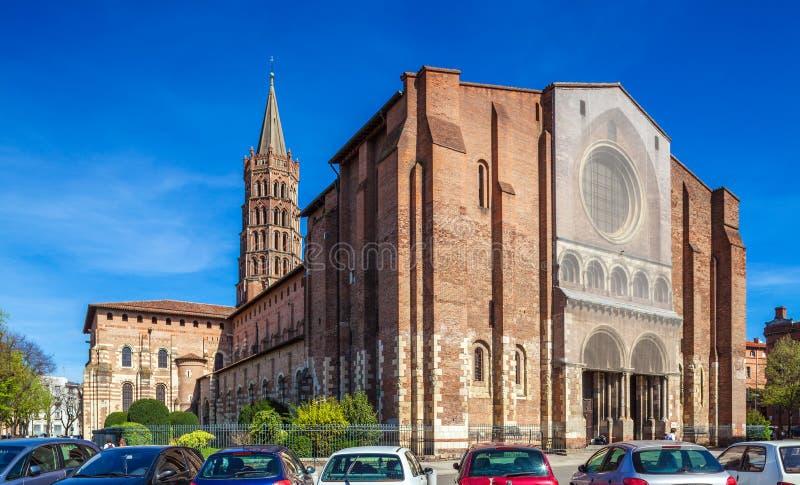 Romanic Church Saint Sernin, Toulouse stock photos
