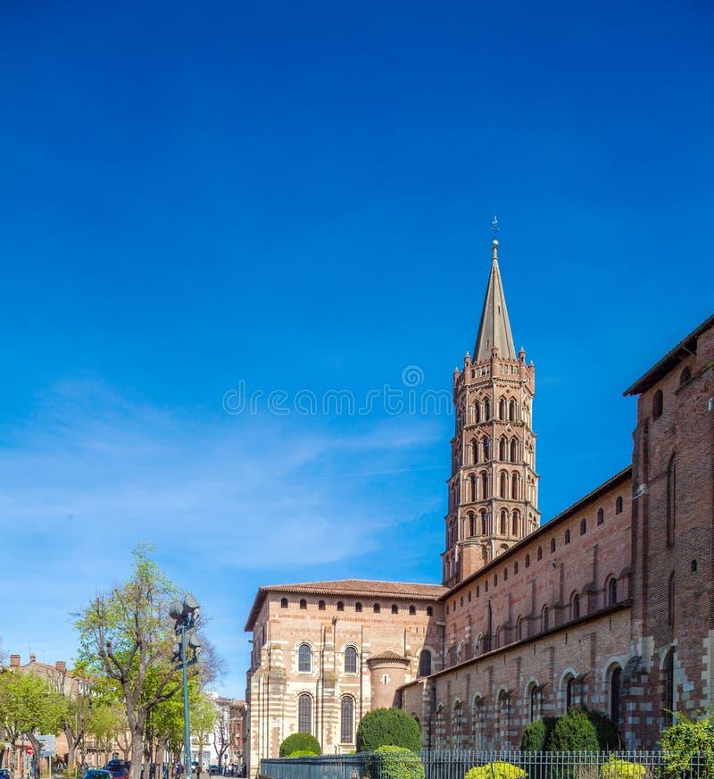 Romanic Church Saint Sernin, Toulouse stock image