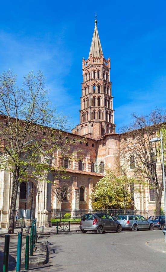 Romanic Church Saint Sernin, Toulouse stock photo