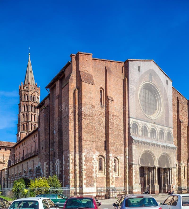 Romanic Church Saint Sernin, Toulouse stock images