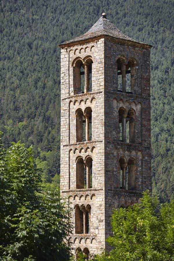 Romanico spagnolo Chiesa di Sant Climent de Taull Vall Boi immagine stock