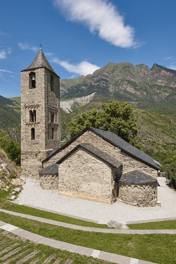 Romanico spagnolo Sant Joan de Boi Church catalonia immagini stock