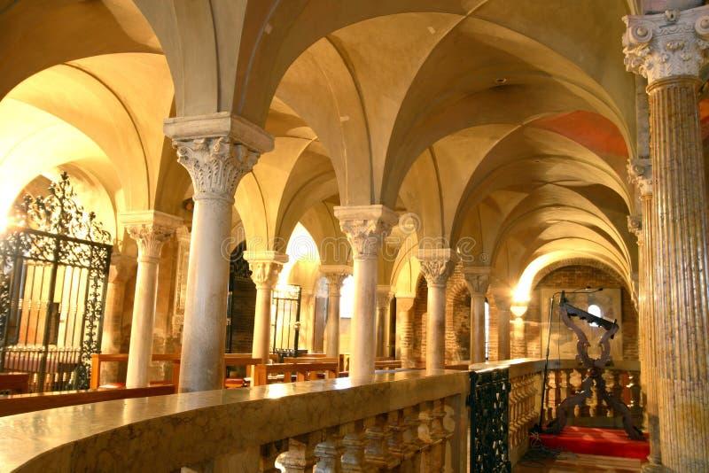 Romanische Kathedrale Modena Italien stockfoto