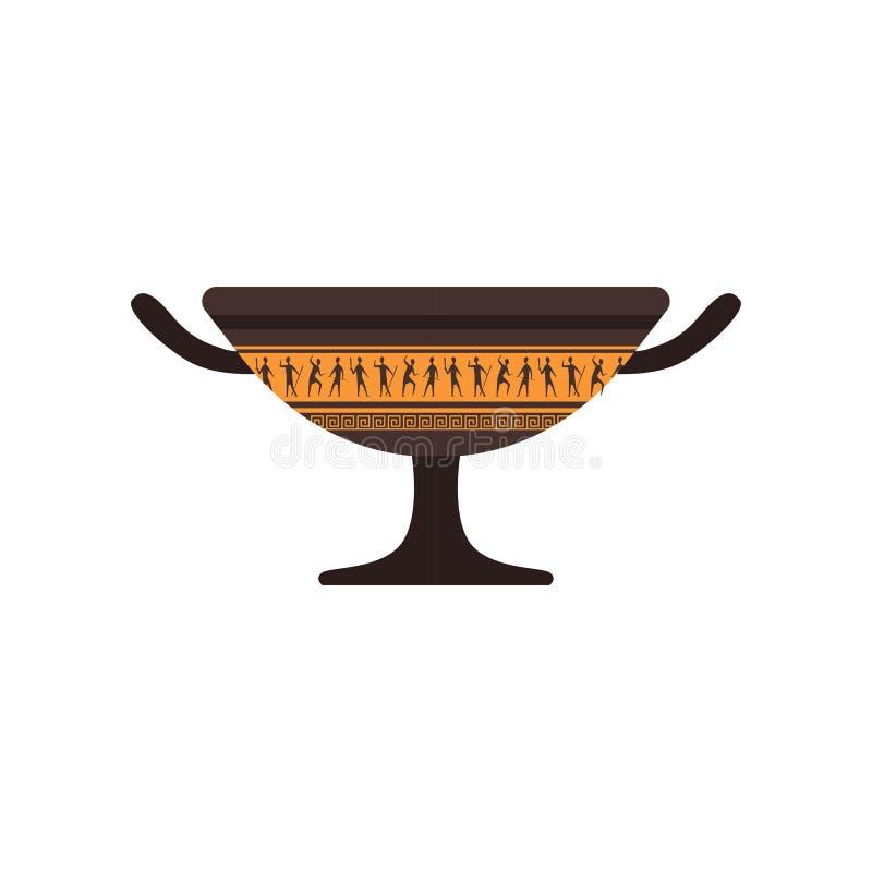 Romano acima com ilustração tradicional do vetor do ornamento em um fundo branco ilustração do vetor