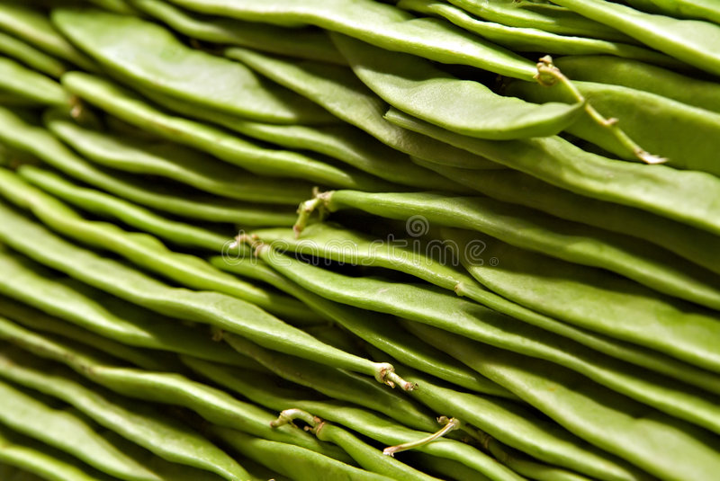 Romano Beans close-up royalty-vrije stock foto's