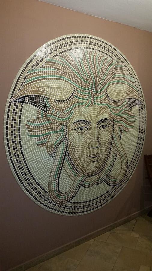 Romano e mozaic immagine stock