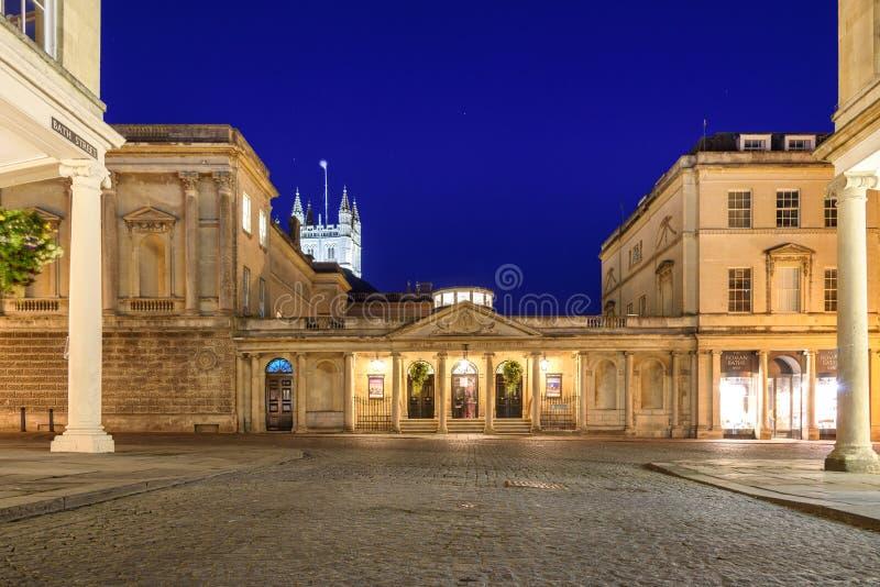 Romans Bath stad, UK arkivbilder