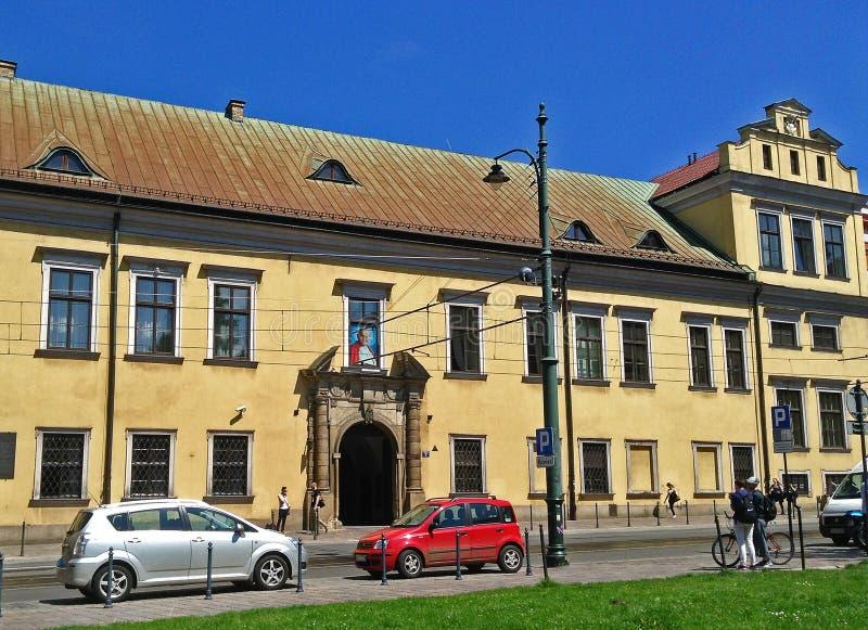 Romans Catholic Bishops slott i Krakow, Polen arkivfoto