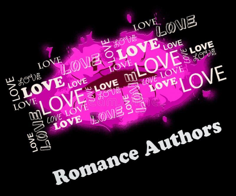 Romans Pisze znaczenie Romansowi I miłość pisarzi royalty ilustracja