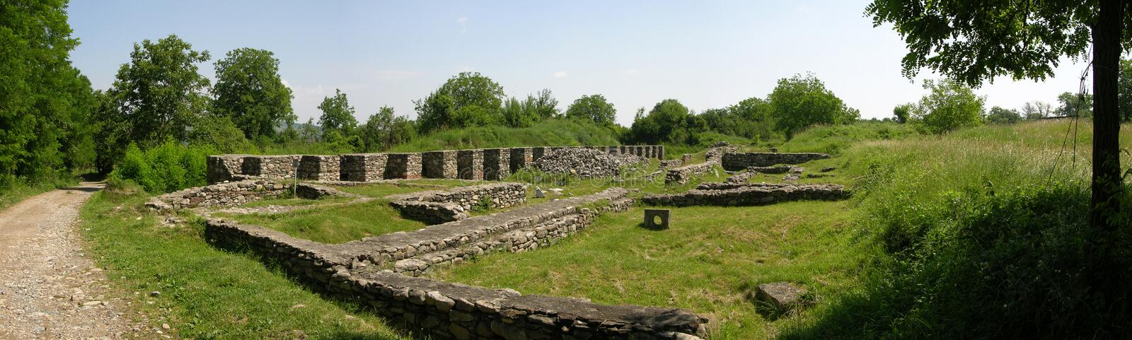 Romans ruins in Romania royalty free stock image