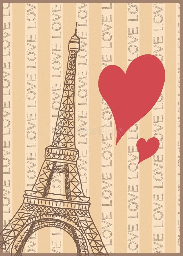 Romans w Paris plakacie ilustracji