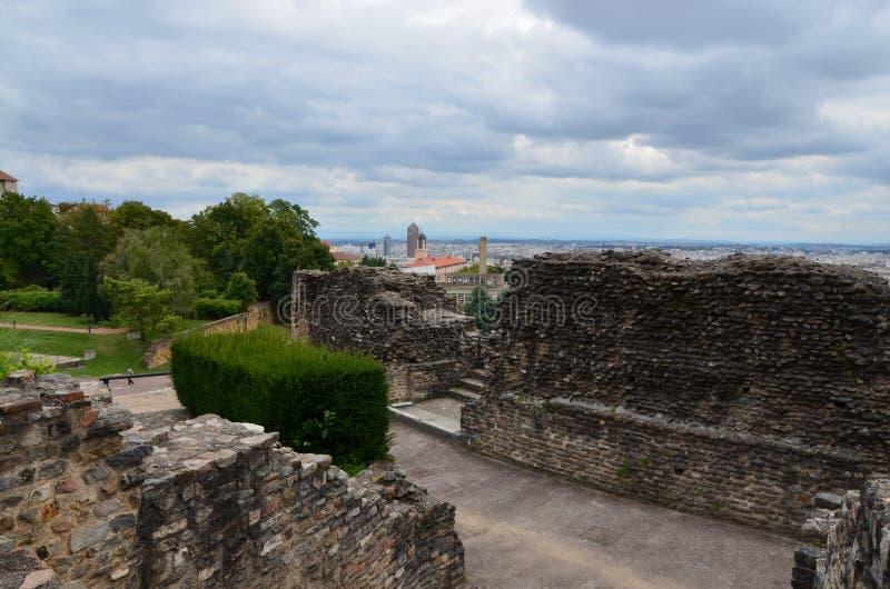 Romans Wreckage In Lyon lizenzfreie stockbilder