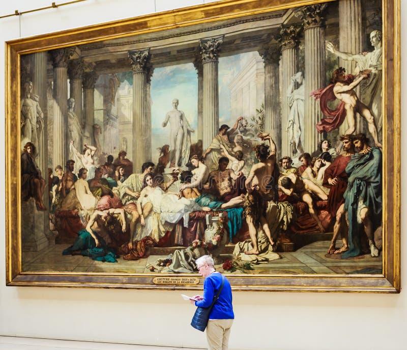 Romansna av dekisen Thomas Couture Musee Orsay arkivbilder